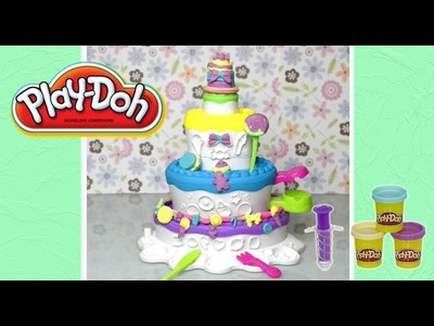 Play Doh Sweet Shoppe Cake Mountain Unboxing Review and Play - Kids Toys