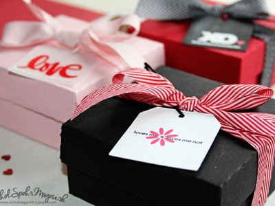 Valentine's Gift Boxes with Stamped Tags