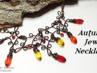Autumn Jewels Necklace-Jewelry Tutorial
