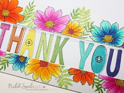 Big Bold Thank You & Flowers Card