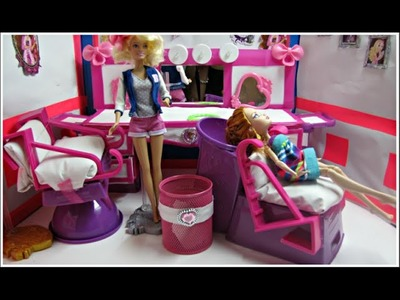 DIY a Doll Hair Salon - Shampoo Chair-  how to make toys out of plastic - Doll Crafts