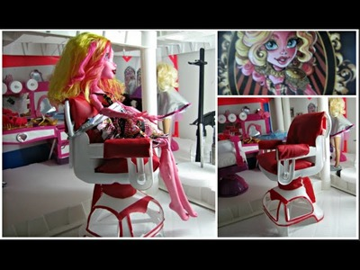 DIY a Doll Salon Styling Chair. Recycle Plastic Bottles