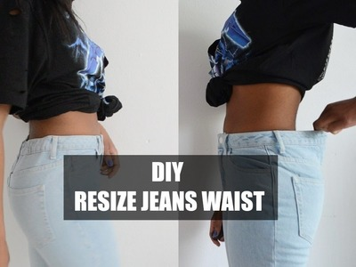 #DIY FIX IT | HOW TO RESIZE JEANS WAIST (ELASTIC METHOD)