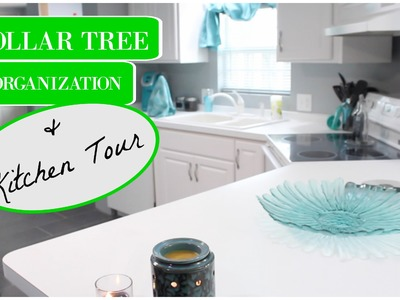 DOLLAR TREE KITCHEN ORGANIZATION | KITCHEN TOUR