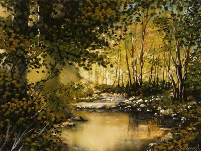 Golden Pond - Time Lapse Painting