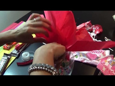 How to make a Chocolate.Candy Valentine's Bouquet