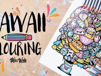 Kawaii Colouring. Shades of Kawaii Print - CUTE! - Miss Wah