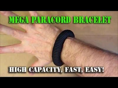 MEGA Paracord Survival Bracelet: UNLIMITED CORD CAPACITY!