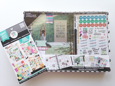Michaels Haul Happy Planner Fitness Kit Share & Seasonal Sticker Book Flip
