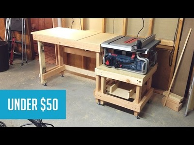 Mobile Tablesaw Station - Part 1