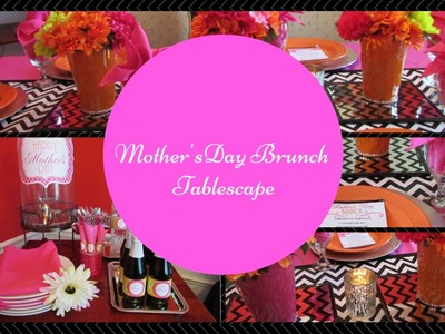 ***Mother's Day Brunch Tablescape***   Dollar Tree Inspired