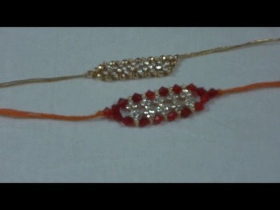Rakhi Making at Home~Kundan Rakhi~Simple Steps
