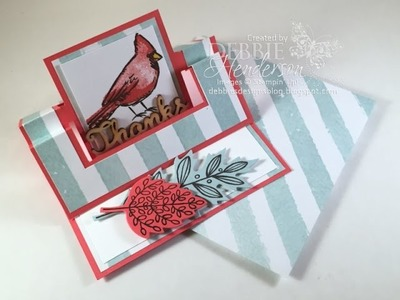 Swing Easel Card Fold with Coordinating Envelope