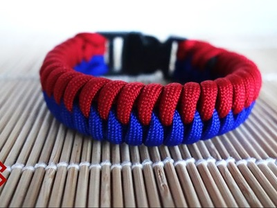Thick Snake Knot Viceroy with Buckles  Paracord Bracelet Tutorial