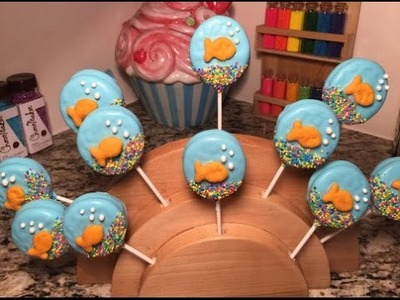 Under The Sea Gold Fish Oreo Cookie Pop(How To)