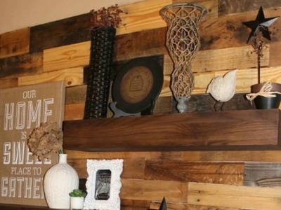 Woodwork - Wood Pallet Accent Wall Design Ideas - Woodwork