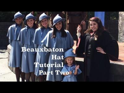 Beauxbaton Hat Tutorial Part 2 (Inexpensive Harry Potter Cosplay)