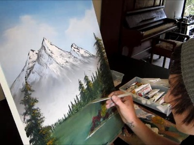 Bob Ross Style Painting Relaxation HD