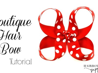 Boutique Hair Bow Tutorial - 3 inch Basic Bow - Hairbow Supplies, Etc.