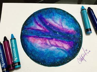 DIBUJANDO CON CRAYOLAS ACUARELABLES- DRAWING WITH  WATER SOLUBLE WAX PASTELS - reeves