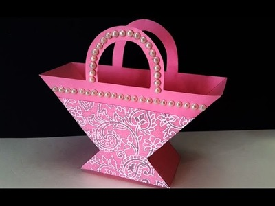 DIY Christmas Crafts : How to Make Beautiful Paper Basket for Flowers, Chocolates & Christmas Gifts