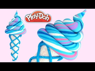 DIY How to Make Play Doh Frozen Candy Ice Cream Modelling Clay * RainbowLearning