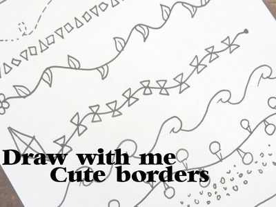 Draw with me: Cute borders #1