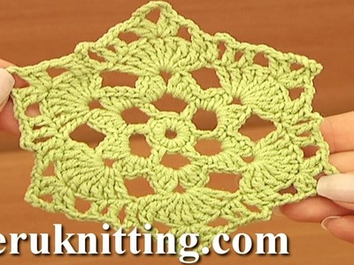 Easy to Crochet 6-Pointed Motif Tutorial 17 part 1 of 3