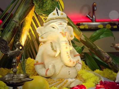 Eco- Friendly Ganesha - How to Make Ganesh Idol at Home - Making Ganesha with Atta flour