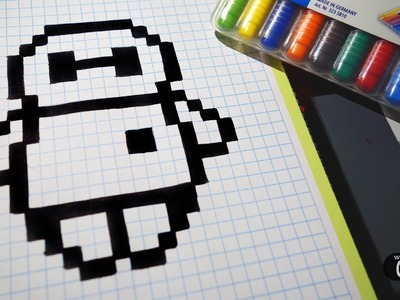Handmade Pixel Art - How To Draw BayMax from Big Hero 6 #pixelart