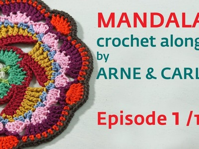 How to Crochet a Mandala. Part 1 by ARNE & CARLOS