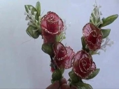 How to make a artificial rose bouquet