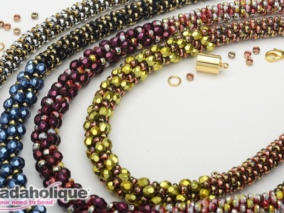 How to Make the Deluxe Beaded Kumihimo Necklace Kit