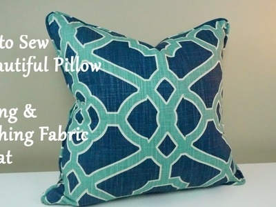 How to Sew A Pillow: Cutting & Matching Fabric Repeat