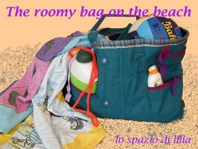 I tutorial di lilla. Borsa shopper da un vecchio giubbino.A roomy bag from an old jacket