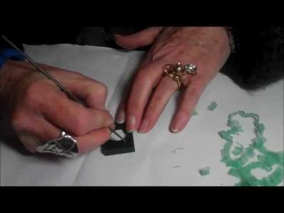 In The Studio Jewellery School - Wax Carving Demonstration