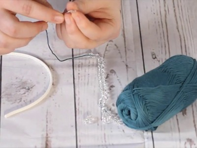 "Knit by Bit: ""Frozen"" Inspired Rowan Swarovski Headband Tutorial"