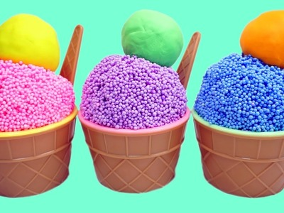 Learn Colors Clay Foam Ice Cream Cups Surprise Toys Minions Spiderman Hello Kitty Toys Story