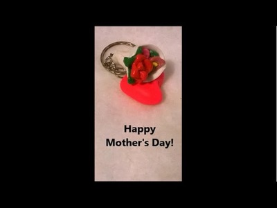 Let's make cute flower bouquet key chain for mother's day!