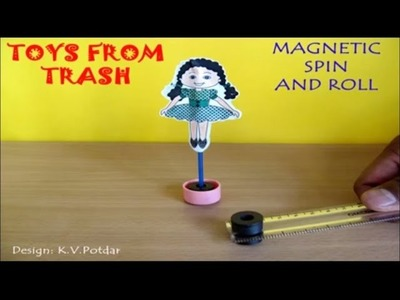MAGNETIC SPIN AND ROLL - ENGLISH - Fun with magnets!