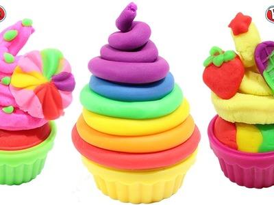 PLAY DOH - clay rainbow ice cream cups licorice along peppa pig toys