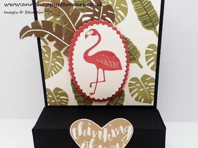 Pop of Paradise Card with pull out draw for 3 Ferrero Rocher