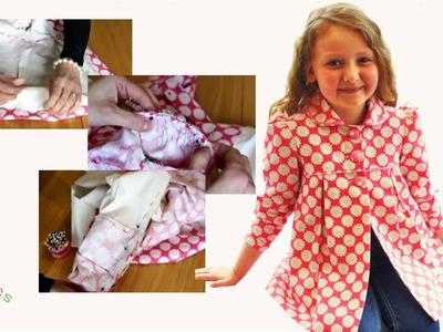 Sewing pattern - Classic Girl's Coat - Part 3