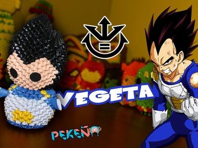 Vegeta (Dragon Ball)  3D Origami | Pekeño ♥