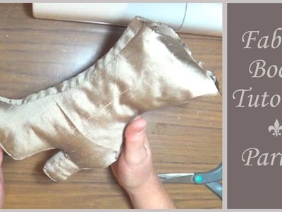 Vintage Style Fabric Boot Tutorial - Part 1