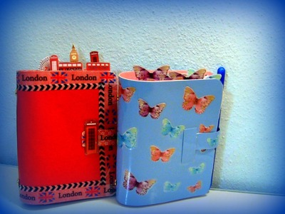Agende fai da te: pocket London e pocket simil butterfly di filofax + diy clips washitape