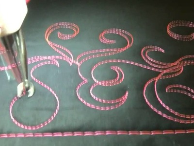 #FMQ201 (Video #63 - Ribbon Curls) Longarm Free Motion Quilting Video