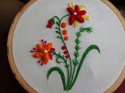 Hand Embroidery: Raised Caston Stitch