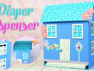House Diaper dispenser DIY,  made with cardboard boxes - Isa ❤️
