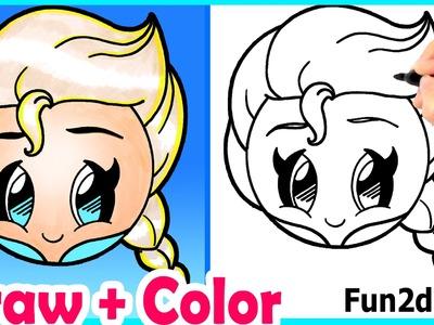 How to Draw Elsa Emoji Cute + Easy